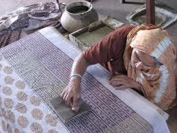 Block printing on fabrics