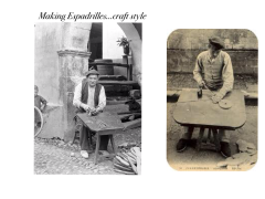 Traditional makers of espadrilles